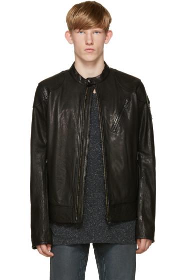 Belstaff - Black Leather Maxford Jacket