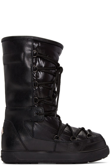 Moncler - Black Leather Laetitia Boots