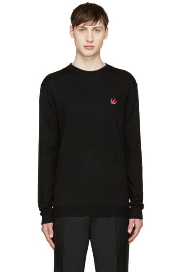 McQ Alexander Mcqueen - Black Wool Embroidered Sweater