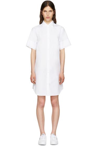MM6 Maison Margiela - White Poplin Shirt Dress