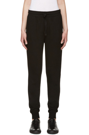 T by Alexander Wang - Black Rib Knit Lounge Pants