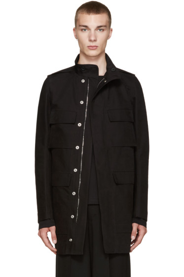 Rick Owens - Black Field Coat