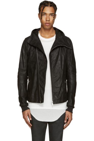 Rick Owens - Black Leather Bullet Jacket