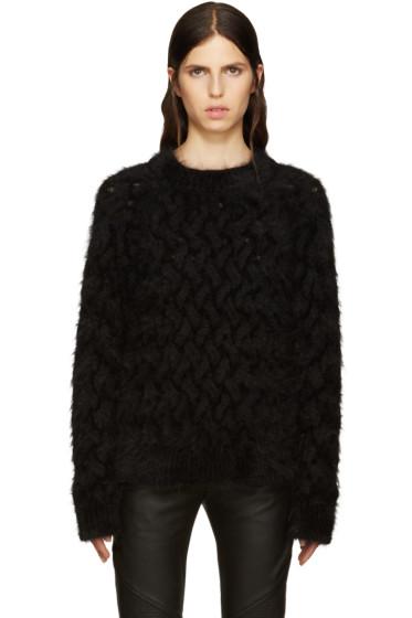 Balmain - Black Angora Sweater