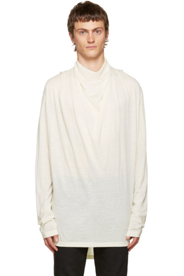 Balmain - Ivory Cowl Neck Sweater