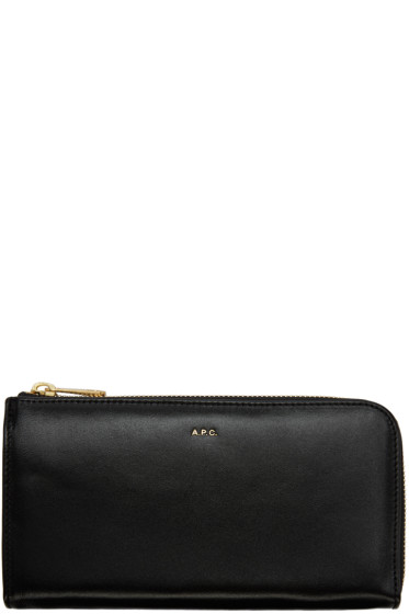 A.P.C. - Black Zip Wallet