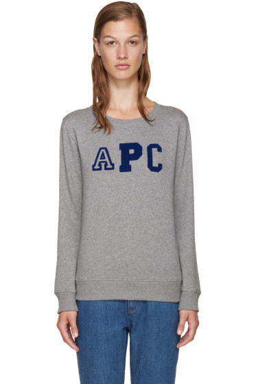 A.P.C. - Grey Collegienne Sweatshirt