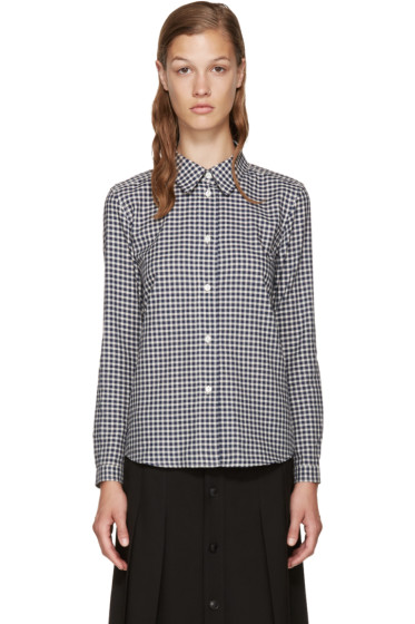 A.P.C. - Navy & White Check Shirt