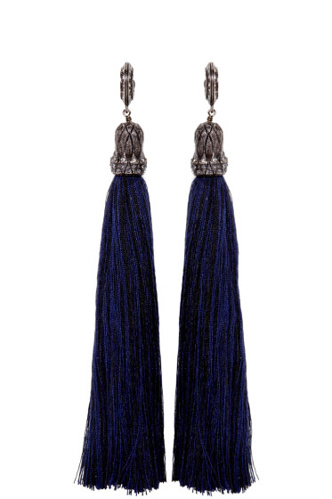 Lanvin - Black Tassel Earrings