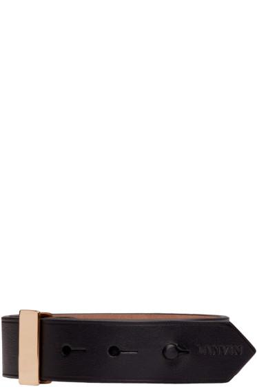 Lanvin - Black Leather Bracelet