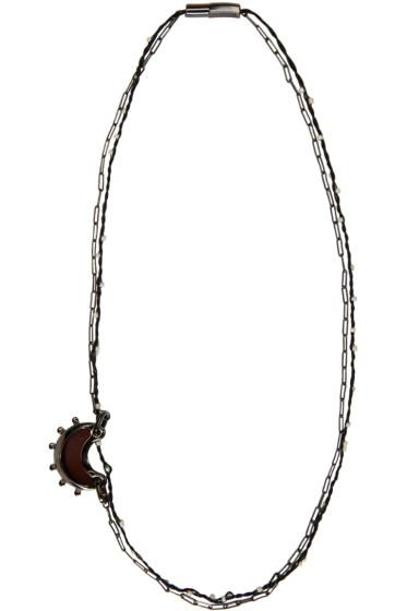 Lanvin - Gunmetal Moon Necklace