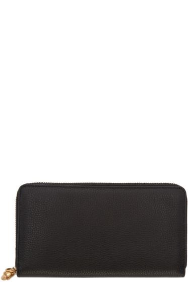 Alexander McQueen - Black Zip Skull Wallet