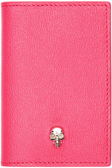 Alexander McQueen - Pink Leather Skull Wallet