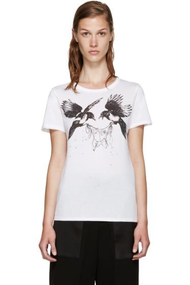 Alexander McQueen - White Ravens T-Shirt