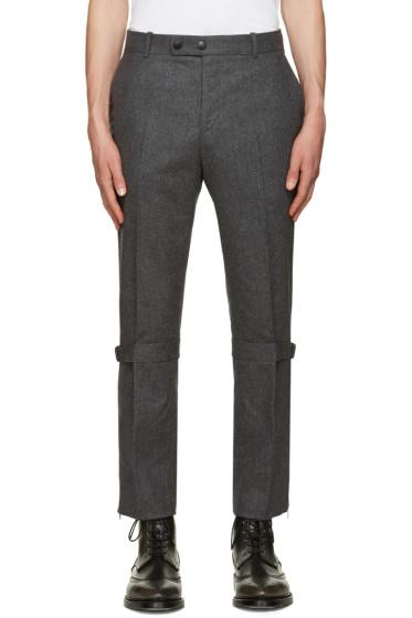 Alexander McQueen - Grey Straps & Zips Trousers