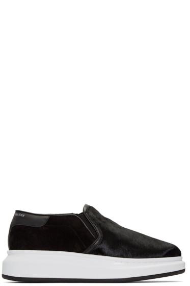 Alexander McQueen - Black Calf-Hair Oversized Sneakers