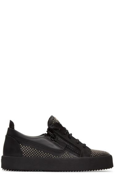 Giuseppe Zanotti - Black Studded London Sneakers