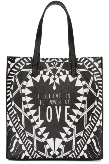 Givenchy - Black & White Medium 'Power of Love' Tote