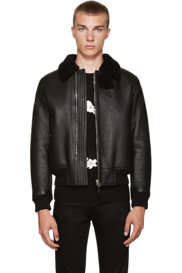 Givenchy - Black Shearling Jacket