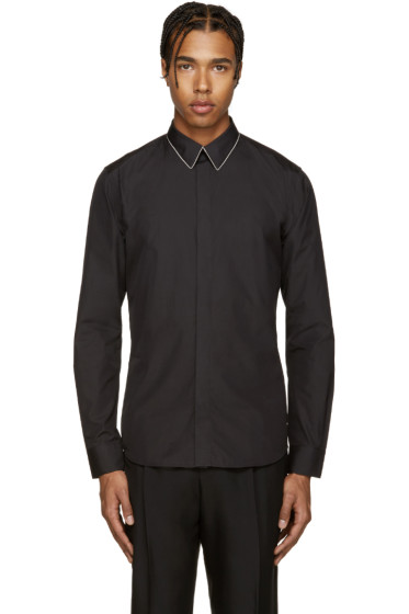 Givenchy - Black Chain Collar Shirt