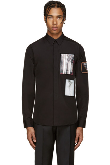 Givenchy - Black Patches Shirt