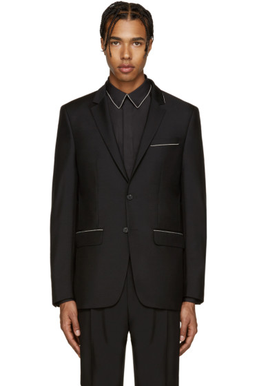 Givenchy - Black Wool Chain Blazer