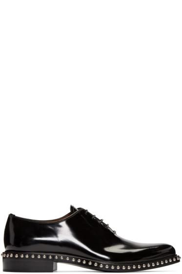 Givenchy - Black Studded Oxfords