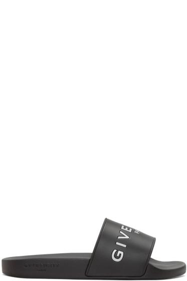 Givenchy - Black Slip-On Sandals