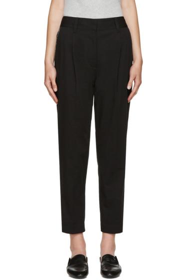 3.1 Phillip Lim - Black & Silver Carrot Trousers