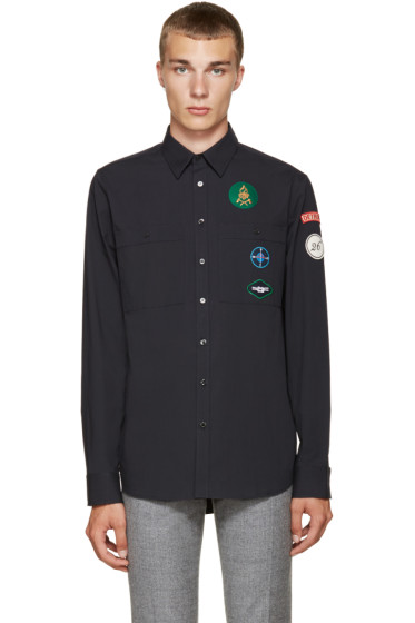 Raf Simons - Navy Patches Shirt