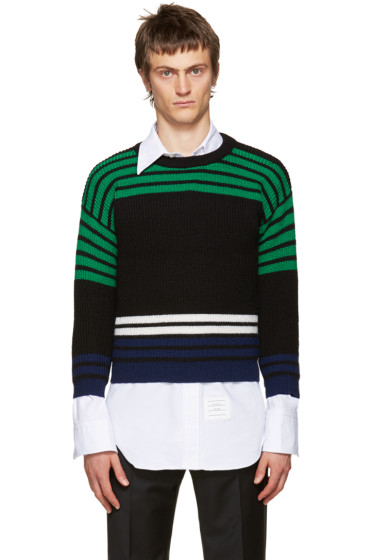 Raf Simons - Multicolor Wool Shrunken Sweater