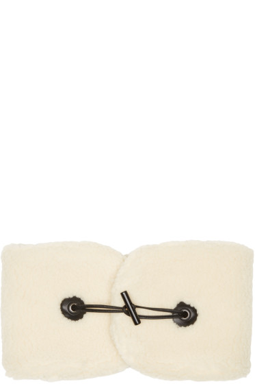 Carven - Off-White Shearling Collar