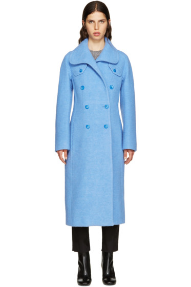 Carven - Blue Wool Coat