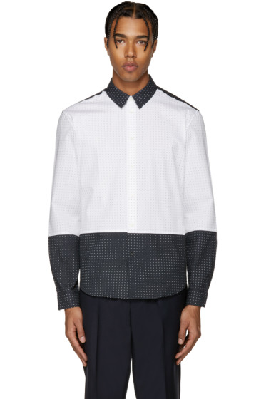 Carven - White & Navy Logo Shirt
