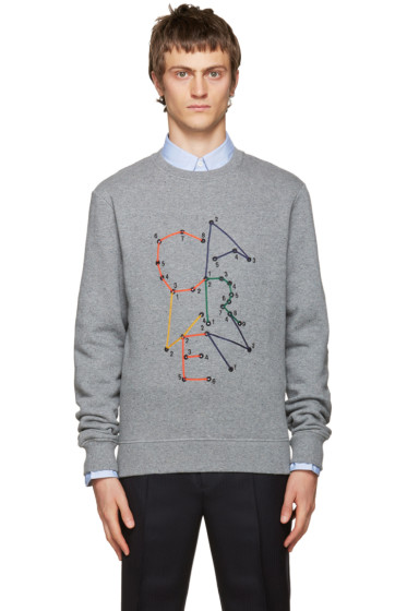 Carven - Grey Embroidered Logo Sweatshirt
