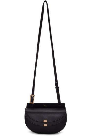 Chloé - Black Mini Georgia Saddle Bag