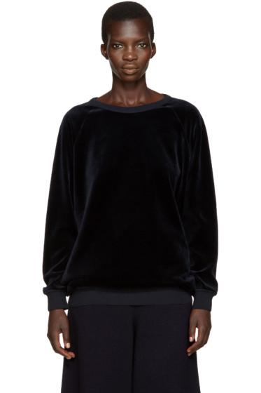 Chloé - Navy Velvet Pullover