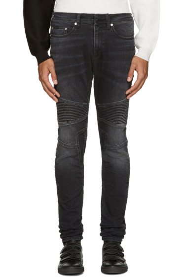 Neil Barrett - Grey Biker Jeans