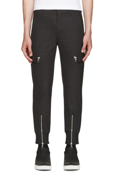 Neil Barrett - Grey Wool Cargo Trousers
