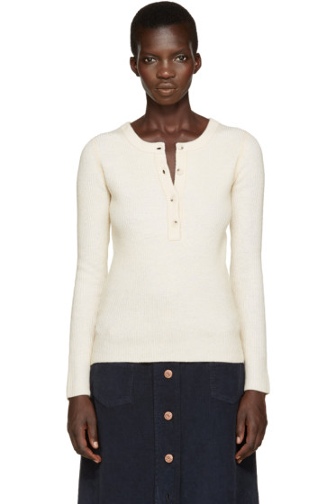 See by Chloé - Off-White Henley Sweater