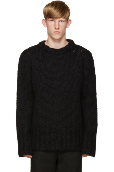 Ann Demeulemeester - Black Wool Sweater