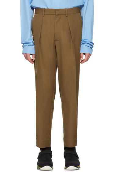 Marni - Tan Wool Oversized Trousers