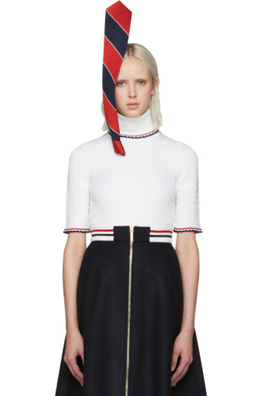 Thom Browne - Tricolor Stephen Jones Edition Tie Headpiece