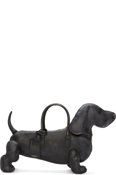 Thom Browne - Black Distressed Hector Bag