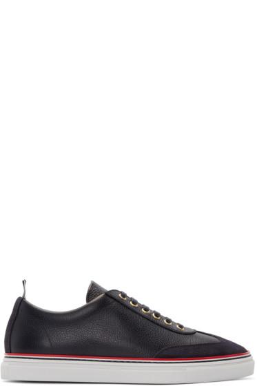 Thom Browne - Navy Toe Cap Sneakers
