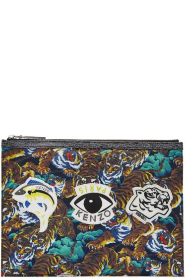 Kenzo - Multicolor Signature Prints Zip Pouch