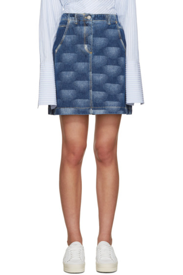 Kenzo - Blue Printed Denim Skirt