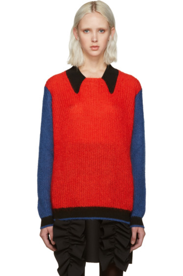 Kenzo - Red Colorblocked Sweater