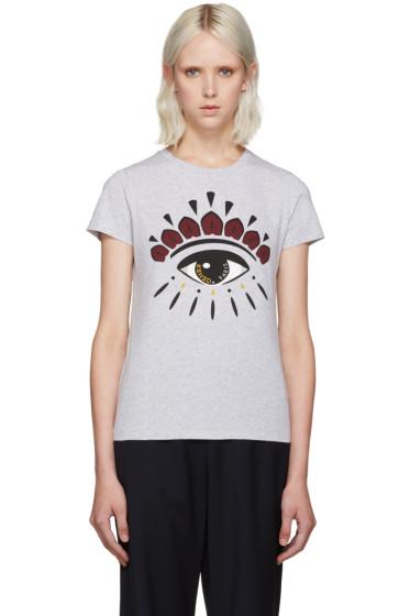 Kenzo - Grey Eye Logo T-Shirt