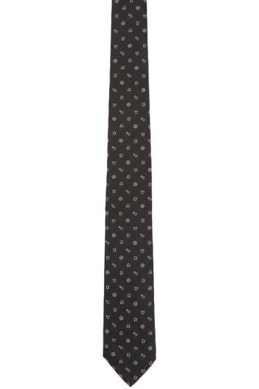 Kenzo - Black Printed Tie